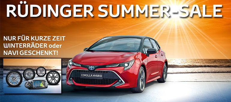 Corolla Toyota Summer Sale Angebot
