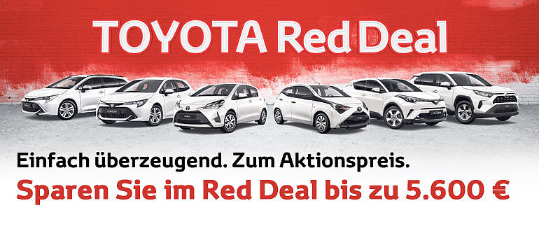 Toyota Red Deal Aygo RAV4 C-HR Corolla Aktion Angebot
